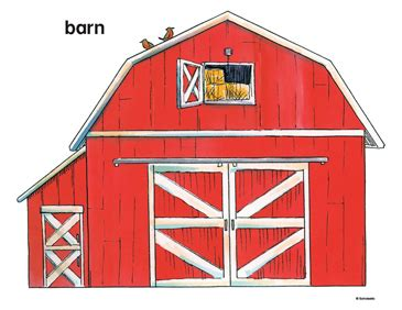 red barn printable clip art  images