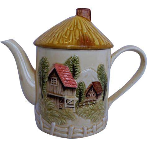 cottage ware marks rosenfield pottery tea pot coffee pot