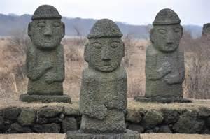 24 rock statues jeju stone park lasting transitions