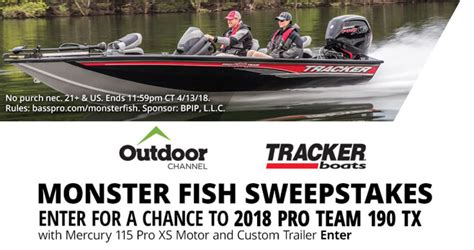 Bass Pro Shop Sweepstakes - bass pro shops monster fish sweepstakes 2018 basspro com monsterfish