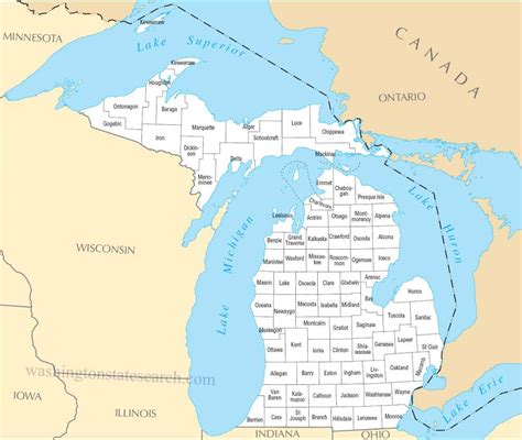 Search Michigan A Large Detailed Michigan State County Map