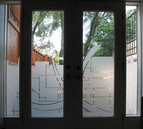door graphics custom graphics cut in frost on residential door window