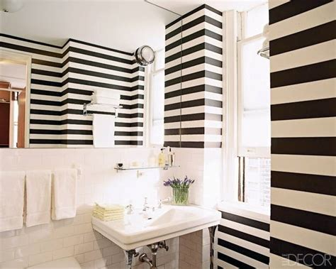 striped wallpaper bathroom 15 modern ideas for room decorating with horizontal stripes
