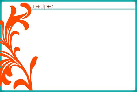 blank recipe cards images