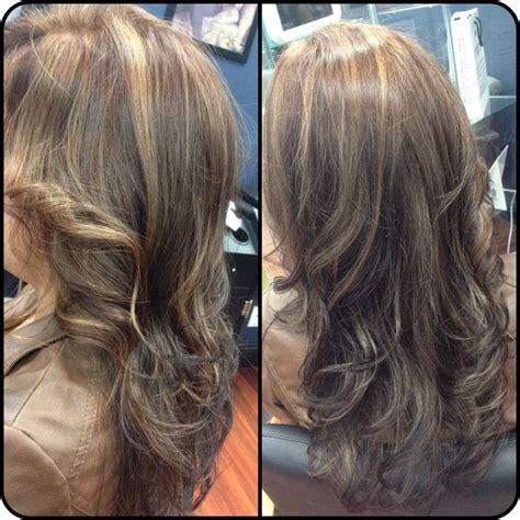 partial highlights for brunettes 1000 ideas about partial blonde highlights on pinterest