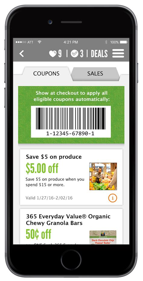 coupons phone apps