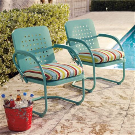 retro outdoor furniture collection eclectic patio