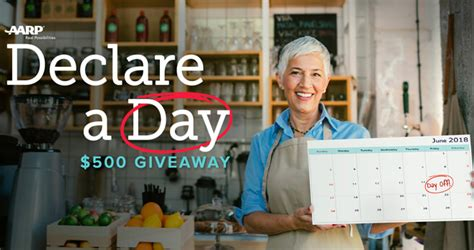 Today S Take Giveaway - aarp take a day giveaway 2018