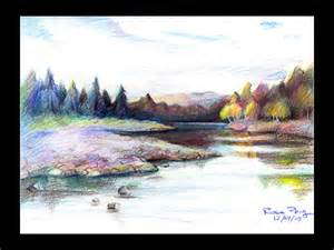 colored pencil landscape pencil drawings color pencil drawings of landscapes