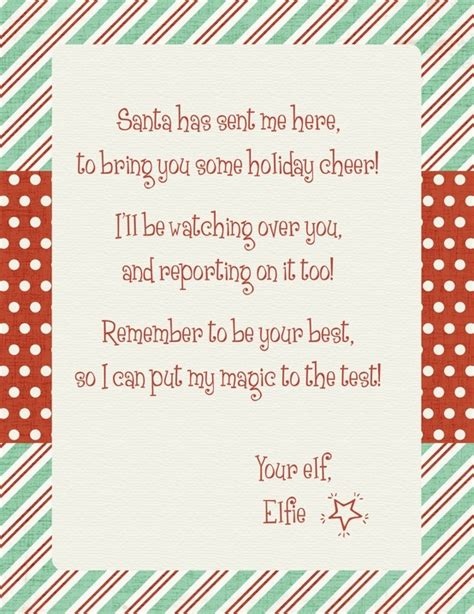 letter from your elf on the shelf free printable elf on the shelf arrival letter