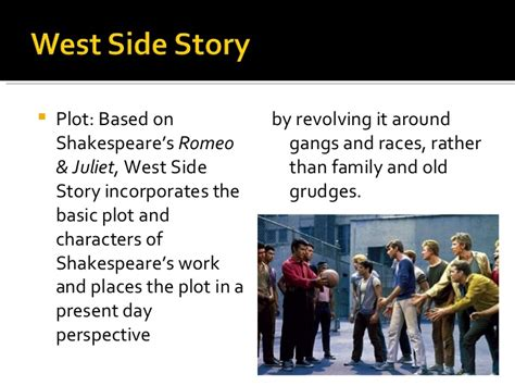 themes of romeo and juliet and west side story west side story