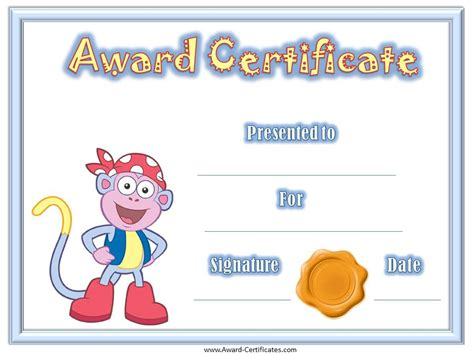 award certificates for children bishops corner web