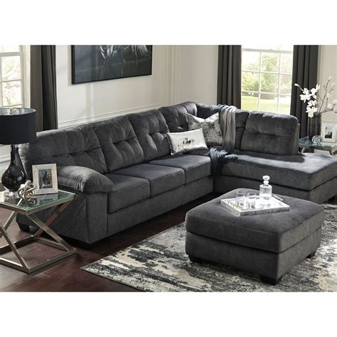 ashley sectional with sleeper ashley signature design accrington sectional with right