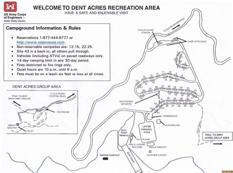 acres resort map dent acres recreation site signs and info images and