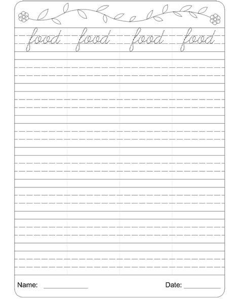 Grade Writing Worksheets by Cursive Writing Worksheet 6
