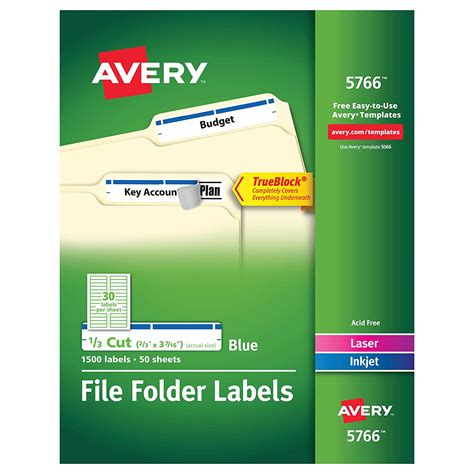 Avery Label Template 5766