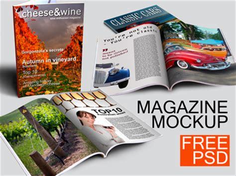 magazine mockup template free magazine mockup free by daniel zając dribbble