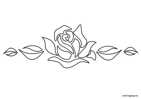 printable stencils rose rose stencil 2 coloring page