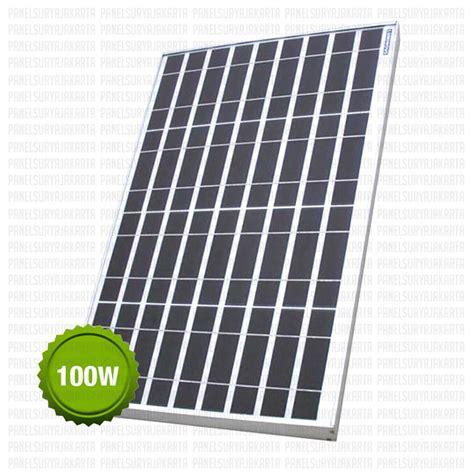 panel surya 100 wp polycrystalline luminous solar cell