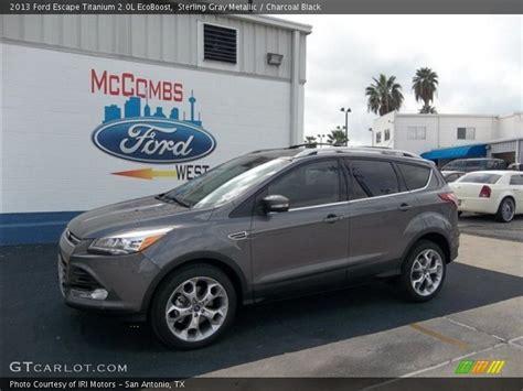 2013 ford escape gray 2013 ford escape titanium 2 0l ecoboost in sterling gray