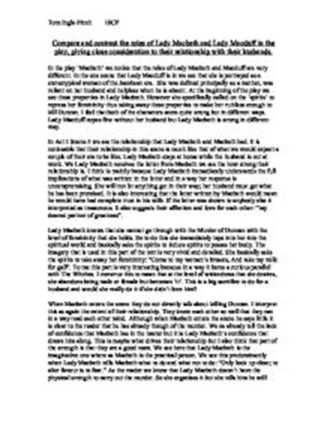 Macbeth Comparison Essay by Compare And Contrast The Roles Of Macbeth And Macduff In The Play Giving