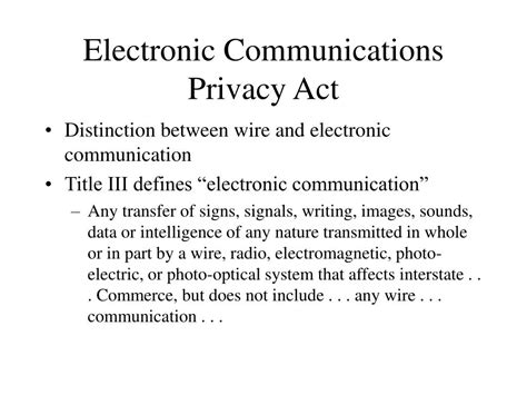 electronic communications privacy act powerpoint