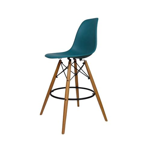 eames bar stool base mid century modern eames dsw style counter bar stool with