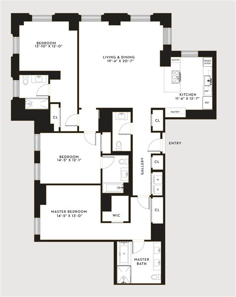 Floor Plans Nyc hell s kitchen luxury penthouses in nyc stella tower