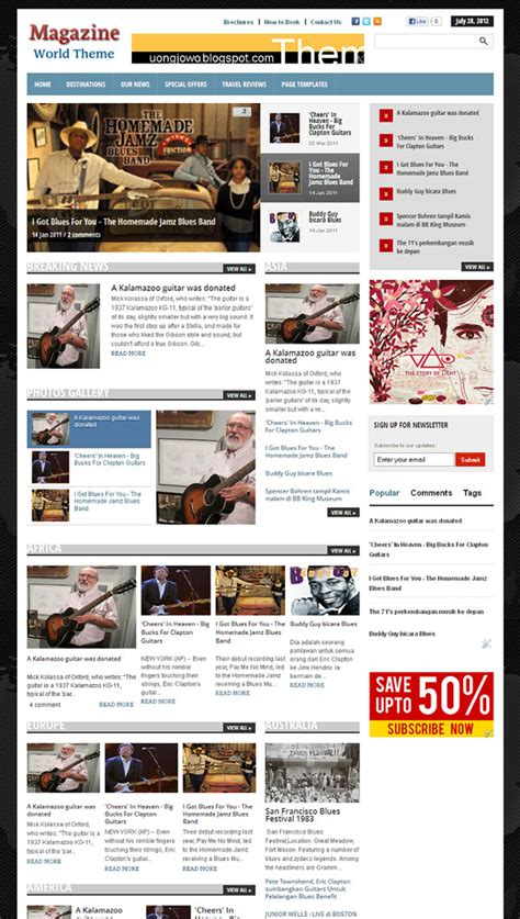 html magazine themes magazine world blogger template uong jowo