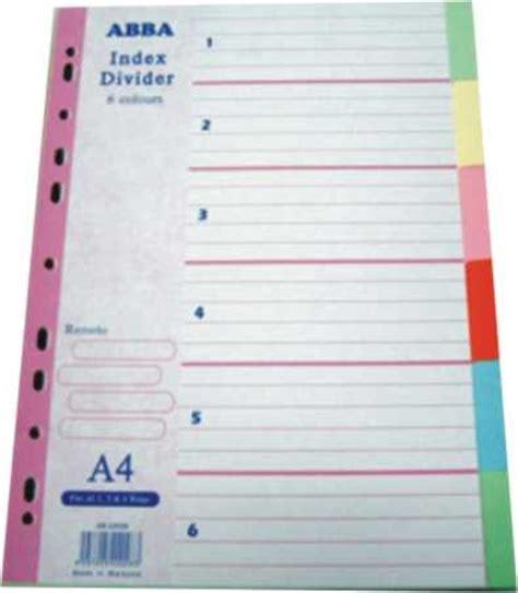 Pen Paper Inter X Folder Index Divider 10 Tabs A4 stationery price list index divider