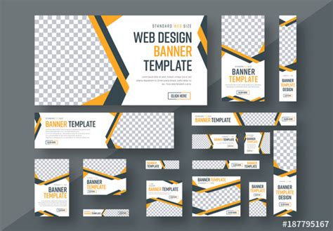 layout design for web banner web banner layout set 3 buy this stock template and