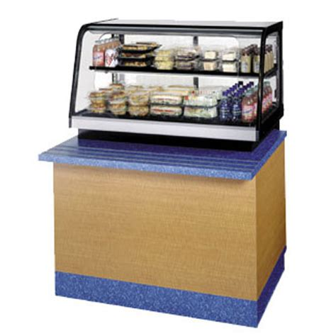 federal crb3628ss curved glass refrigerated countertop