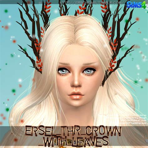Sheep Home Decor tree crown with leaves by ersel at ersch sims 187 sims 4 updates