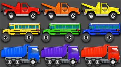 truck colors mixing colors vehicles construction equipment