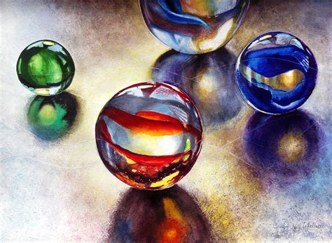Best Online Home Decor marbles 2 painting by carolyn coffey wallace