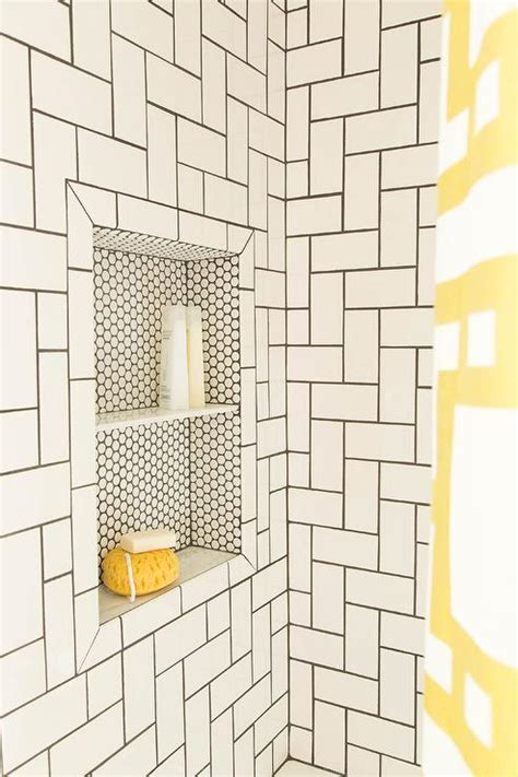 simple white subway tiles take on a whole new look when