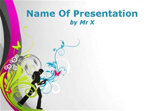 music themes for powerpoint 2010 free download guitarist and flowers powerpoint presentation template