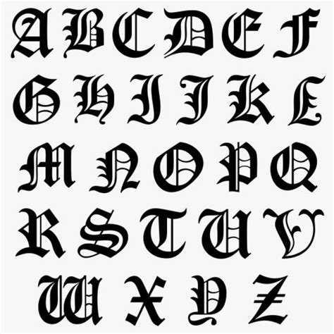 Klebebuchstaben Old English by English Capital Letters Letters Font