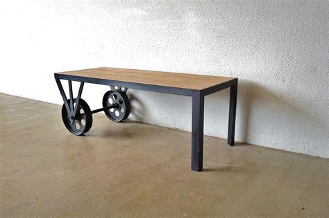 Industrial Coffee Table On Wheels Coffee Table Wheels Industrial Coffee Table Design Ideas