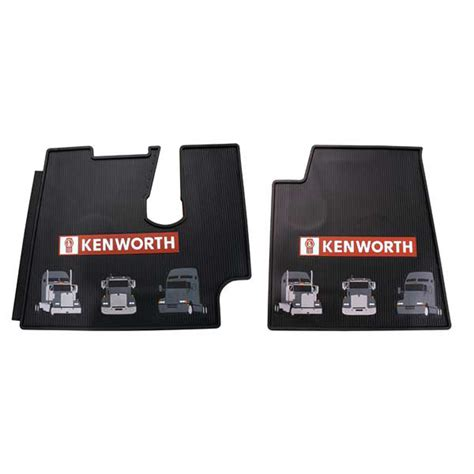 Semi Truck Floor Mats kenworth 2005 newer heavy duty black rubber floor mats