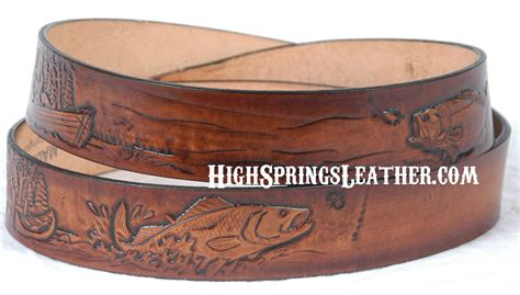 fishing leather name belt made in usa