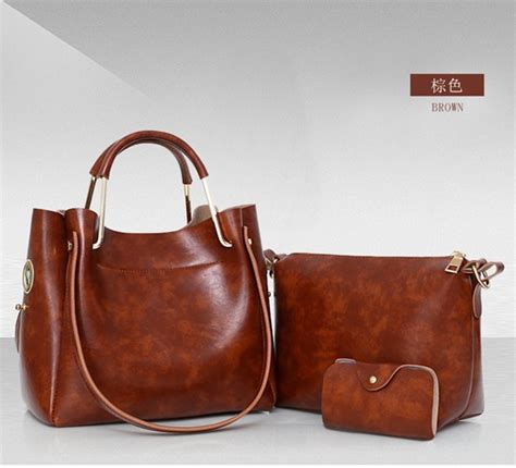 Fashion Serut jual b967 brown tas serut fashion set 3in1 grosirimpor