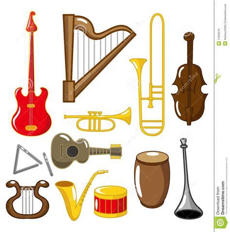 clipart strumenti musicali strumenti musicali fumetto illustrazione vettoriale