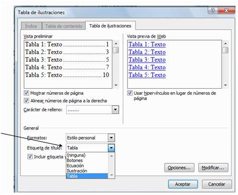 insertar imagenes tabla html blogss pasos para crear indices automaticos en word 2010