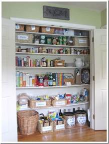 how i transformed a coat closet into a pantry in my own