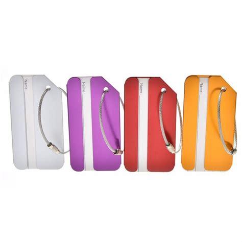 Promo Name Tag Id Tas Koper Aluminum Metal Travel Luggage Bags Tag Bla name tag tas koper aluminum black jakartanotebook