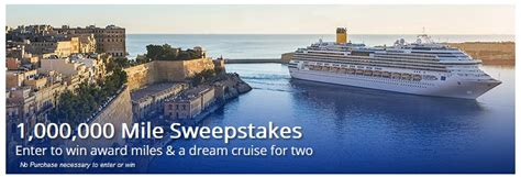 United Million Mile Giveaway - united cruises 1 000 000 mile sweepstakes rapid travel chai