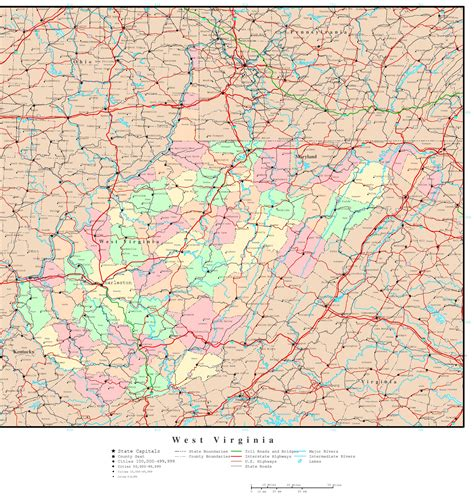 west virginia map cities west virginia political map