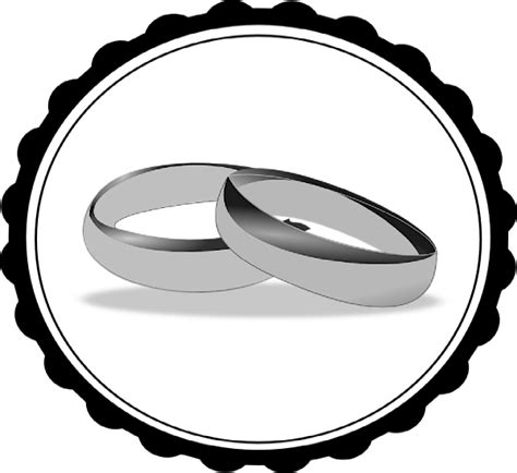 wedding ring black and white clipart