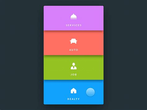 design application menu menu uplabs